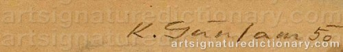 Signature by: GUNSAM, Karl Josef