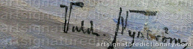 Signature by Valdemar NYSTRÖM