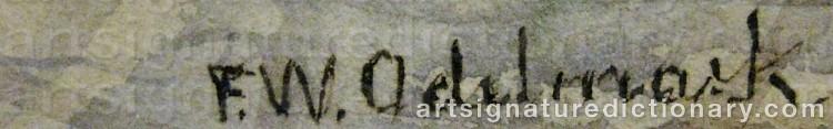 Signature by Frans Wilhelm ODELMARK