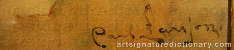 Signature by Carl LARSSON