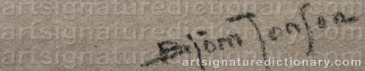 Signature by Björn JONSON