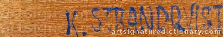 Signature by Kjell STRANDQVIST