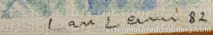 Forged signature of Lars LERIN