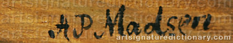 Signature by Andreas Peter MADSEN