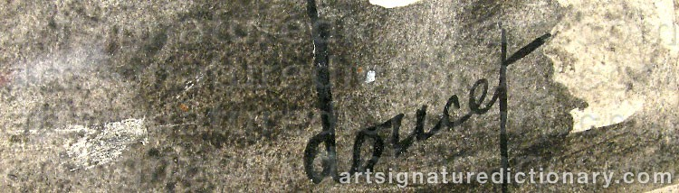Signature by Jacques DOUCET