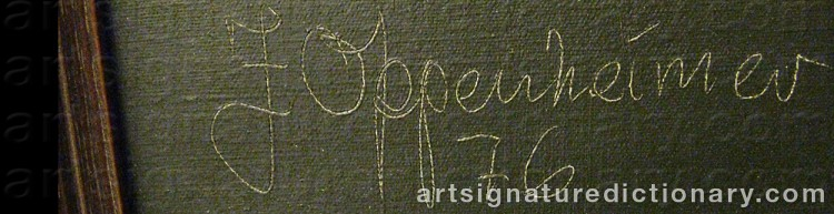Signature by Johnny OPPENHEIMER