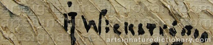 Signature by Åke WICKSTRÖM