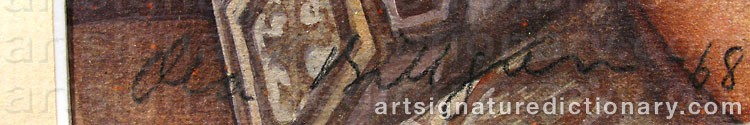 Forged signature of Ola BILLGREN