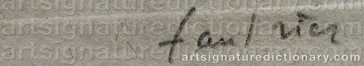 Signature by Jean FAUTRIER