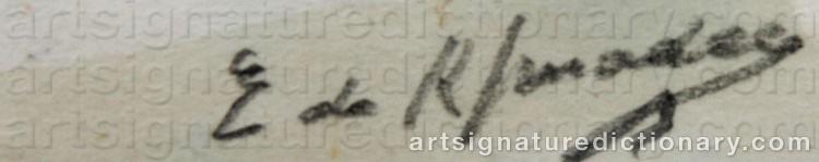 Signature by Eugène Nestor De KERMADEC