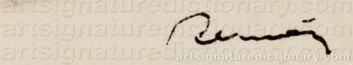 Signature by: RENOIR, Pierre Auguste