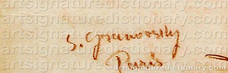 Signature by Sam GRANOVSKY
