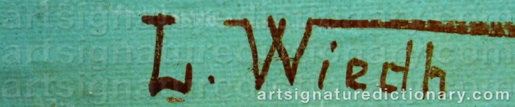 Signature by Leonard WIEDH