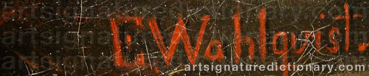 Signature by Ernfried WAHLQUIST