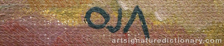 Forged signature of Onni OJA