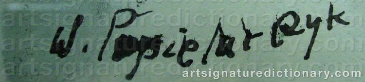 Signature by Wladyslaw POPIELARCZYK
