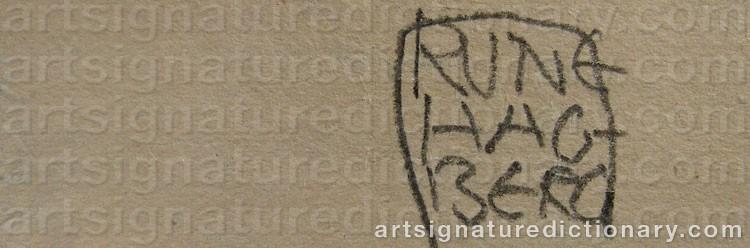 Signature by Rune HAGBERG
