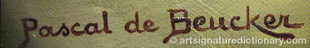 Signature by Pascal De BEUCKER