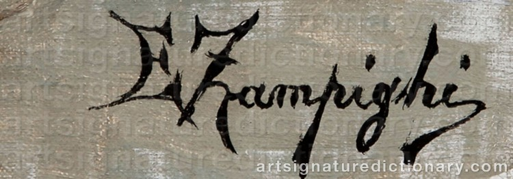 Signature by Eugenio ZAMPIGHI