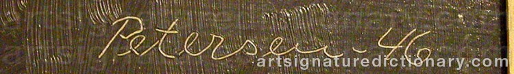 Signature by Vilhelm BJERKE-PETERSEN