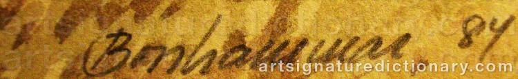 Signature by Bengt BOSSHAMMAR