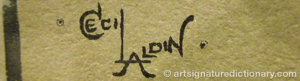 Signature by Cecil Charles Windsor ALDIN