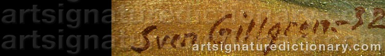Signature by Sven GILLGREN