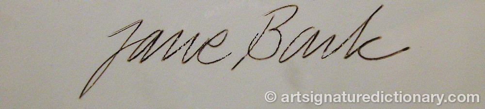 Signature by Jane BARK