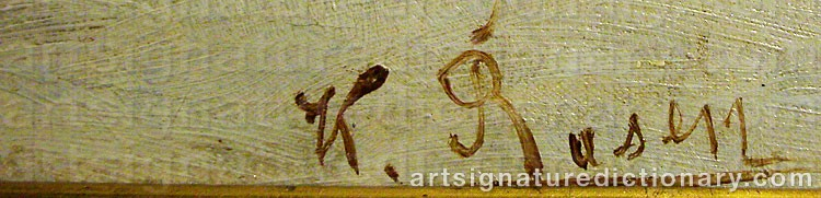 Signature by Karl Ioganovich ROSEN