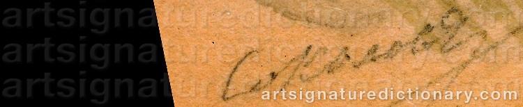 Signature by Piotr Feodorovich SOKOLOV