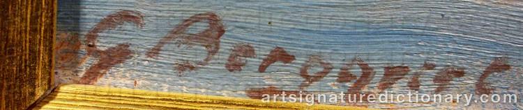 Signature by Gunnar BERGQVIST