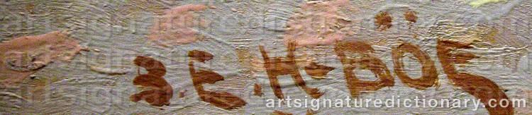 Signature by Birger Emmanuel HANSSON-BÖE