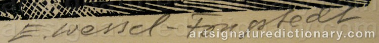 Signature by Erik WESSEL-FOUGSTEDT
