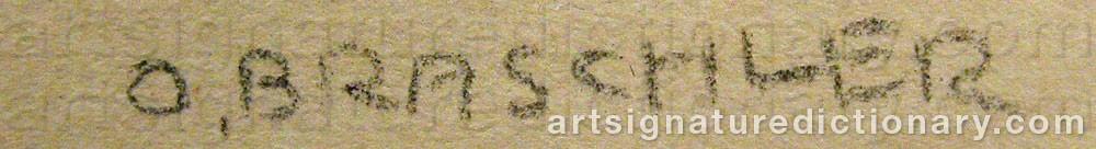 Signature by Otto BRASCHLER