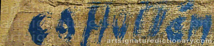 Signature by Carl Otto HULTÉN