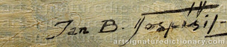 Signature by Jan Bohumil POSPISIL