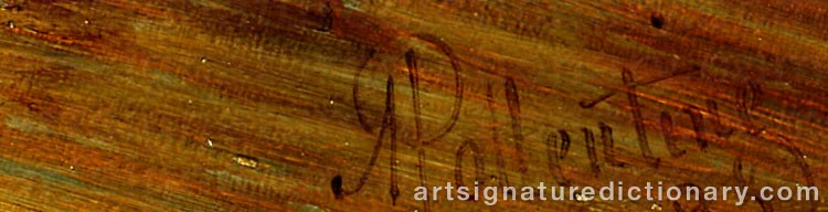 Signature by Alfred POLLENTINE