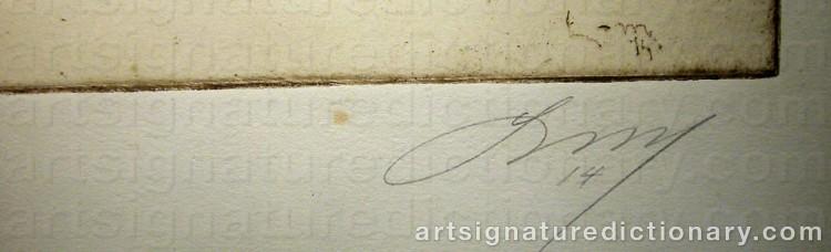 Signature by Knut LUNDSTRÖM