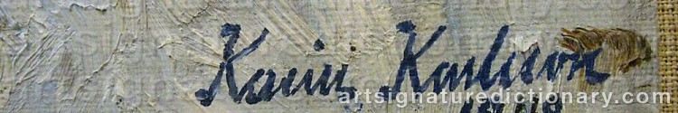 Signature by Karin KARLSSON