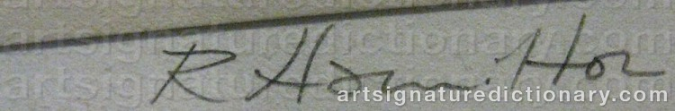 Signature by Richard HAMILTON