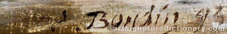 Signature by Eugène Louis BOUDIN