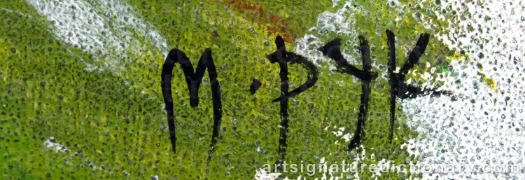Forged signature of Madelaine 'M Pyk' PYK
