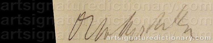 Signature by Oskar KOKOSCHKA