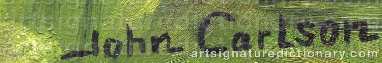 Signature by John CARLSON
