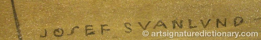 Signature by Josef SVANLUND