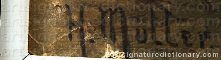 Signature by Herman MÜLLER
