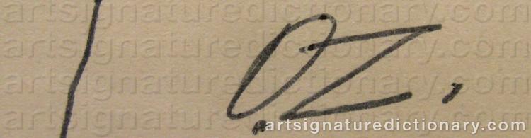 Signature by Ossip ZADKINE