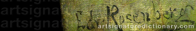 Signature by Edvard ROSENBERG