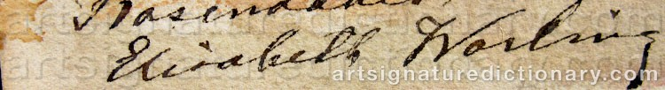 Signature by Elisabeth WARLING