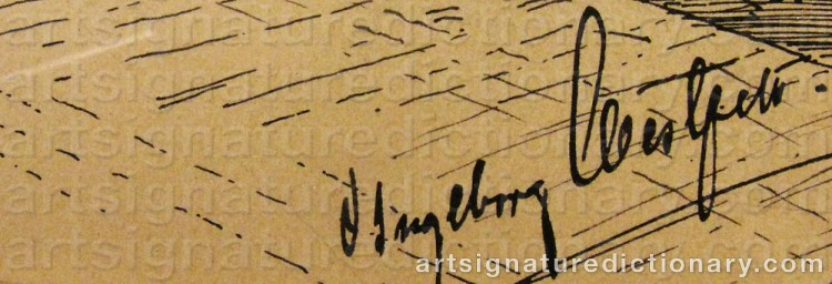 Signature by Ingeborg WESTFELT-EGGERTZ
